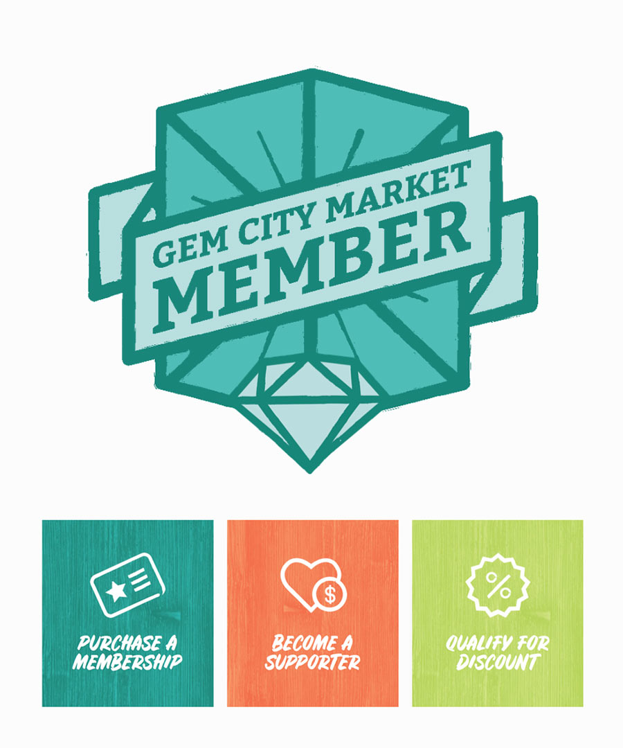 Gem City Market Website - Membership Badge