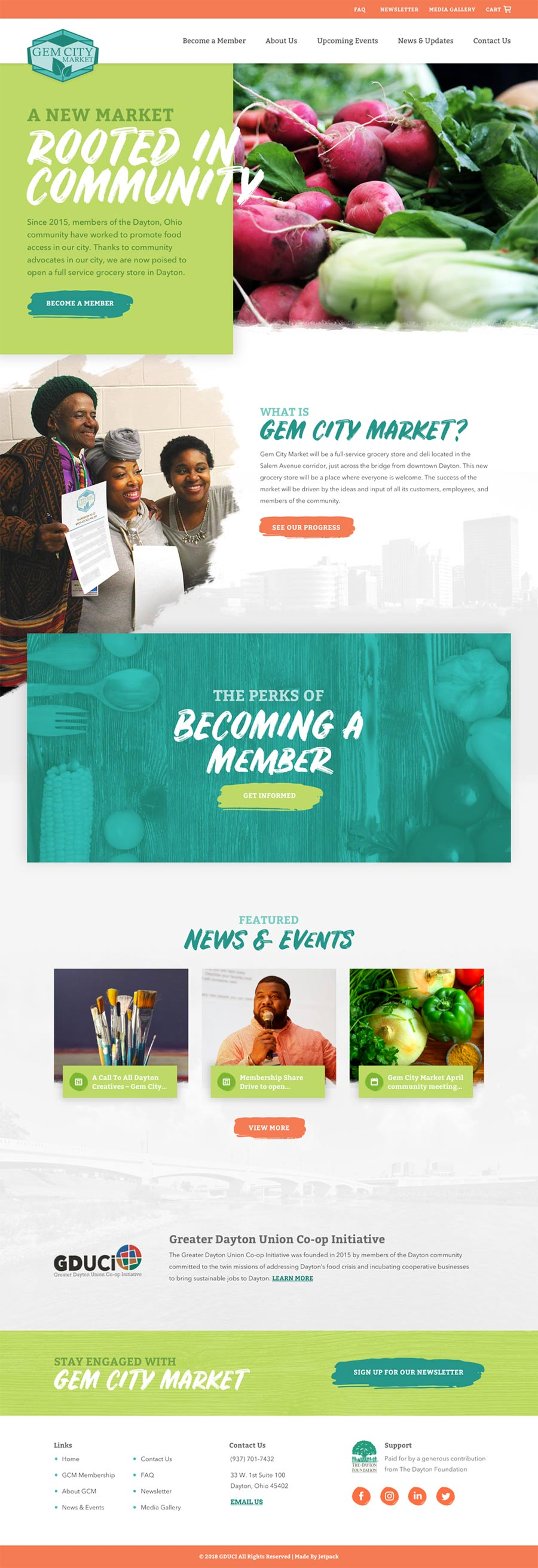 Gem City Market Website - Full Screenshot